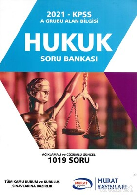 Murat Yayınları - KPSS 2021 Hukuk Soru Bankası