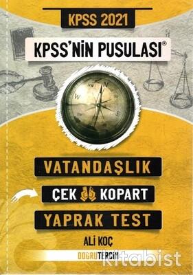 Doğru Tercih Yayınları - KPSS 2021 Kpss'nin Pusulası Vatandaşlık Yaprak Test