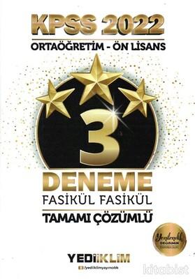 Yedi İklim Yayınları - KPSS 2022 Ortaöğretim Ön Lisans GY - GK 3 Yıldız Tamamı Çözümlü Fasikül Deneme