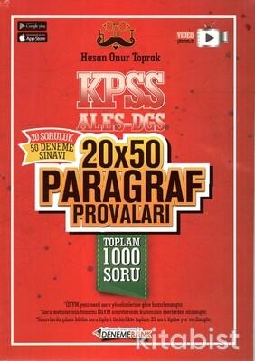 Deneme Bank Yayınları - KPSS-ALES-DGS Paragraf Provaları 20*50 Deneme Sınavı