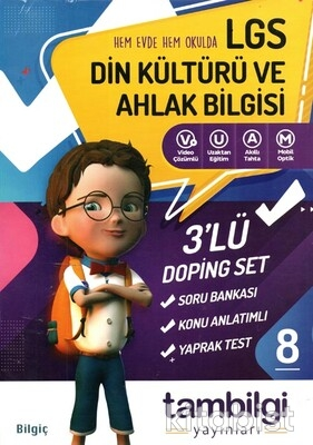Tam Bilgi Yayınları - LGS 8.Sınıf Din Kültürü ve Ahlak Bilgisi 3 lü Doping Seti