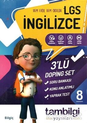 Tam Bilgi Yayınları - LGS 8.Sınıf İngilizce 3 lü Doping Seti