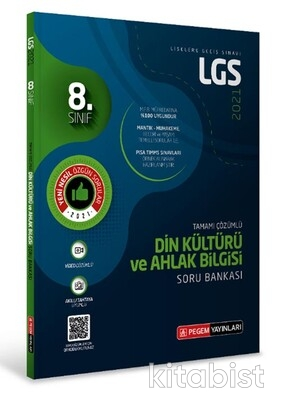 Pegem Yayınları - LGS Din Kültürü ve Ahlak Bilgisi Tamamı Çözümlü Soru Bankası