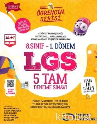 Murat Yayınları - LGS Öğrencim Serisi 8.Sınıf 5 Tam Deneme Sınavı-1.Dönem