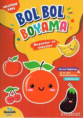 Meyveler ve Sebzeler - Bol Bol Boyama