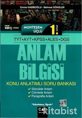 Çap Yayınları - Muhteşem Üçlü 1. Kitap - TYT-AYT-KPSS-ALES-DGS Anlam Bilgisi Konu Anlatımlı Soru Bankası