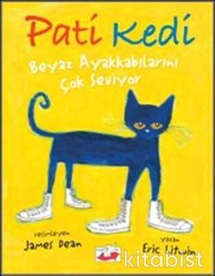 Uçan Fil Yayınları - Pati Kedi Beyaz Ayakkabılarını Çok Seviyor