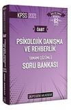Pegem Yayınları - Psikolojik Danışma ve Rehberlik Tamamı Çözümlü Soru Bankası