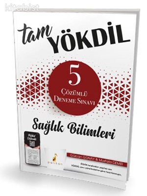 Pelikan Yayınları - Tam Yökdil Sağlık Bilimleri Dijital Çözümlü 5 Deneme Sınavı