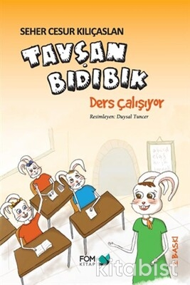 Fom Kitap - Tavşan Bıdıbık-Ders Çalışıyor