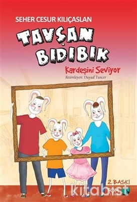 Fom Kitap - Tavşan Bıdıbık-Kardeşini Seviyor