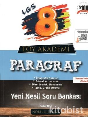 Nobel Kitabevi - Toy Akademi 8.Sınıf LGS Paragraf Yeni Nesil Soru Bankası