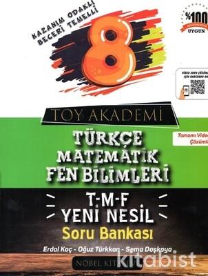 Nobel Kitabevi - Toy Akademi 8.Snıf T-M-F Yeni Nesil Soru Bankası