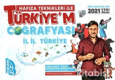 Benim Hocam Yayınları - Tüm Adaylar İçin Hafıza Teknikleri İle Türkiyem Coğrafyası - 2021