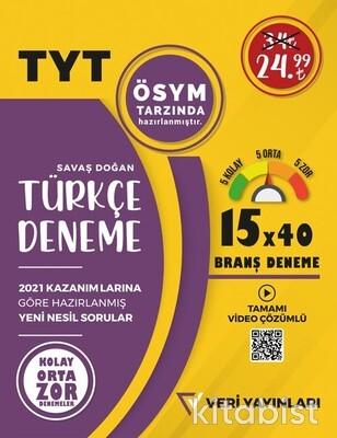 Veri Yayınları - TYT 15x40 li Türkçe Deneme