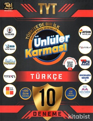 Ünlüler Yayınları - TYT 2021 Ünlüler Karması Türkçe 10 lu Deneme