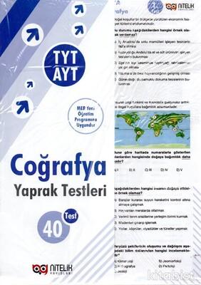 Nitelik Yayınları - TYT-AYT Coğrafya 40'lı Yaprak Test