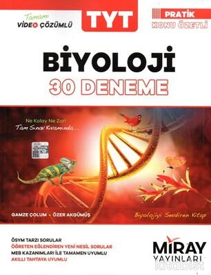 Miray Yayınları - TYT Biyoloji 30'lu Deneme Sınavı