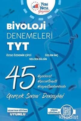 Yeni Nesil Yayınları - TYT Biyoloji 45 Li Deneme Sınavı