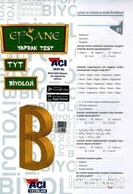 Açı Yayınları - TYT Biyoloji Çek Kopar Yaprak Test