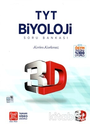 3D Yayınları - TYT Biyoloji Soru Bankası
