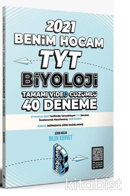 Benim Hocam Yayınları - TYT Biyoloji Video Çözümlü 40'lı Deneme Sınavı - 2021