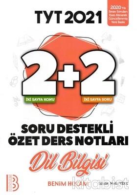 Benim Hocam Yayınları - TYT Dilbilgisi 2+2 Soru Destekli Özet Ders Notları - 2021