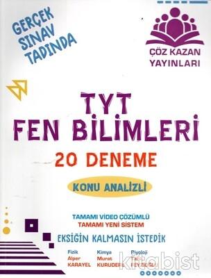 Çöz Kazan Yayınları - TYT Fen Bilimleri 20'li Deneme Sınavı-Konu Analizl