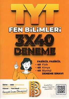Benim Hocam Yayınları - TYT Fen Bilimleri 3X40 Deneme