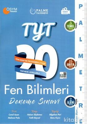 Palme Yayınları - TYT Fen Bilimleri Palmetre 20 Li Deneme Sınavı