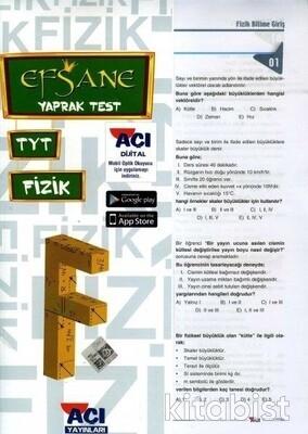Açı Yayınları - TYT Fizik Çek Kopar Yaprak Test