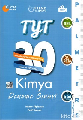 Palme Yayınları - TYT Kimya Palmetre 30 Lu Deneme Sınavı