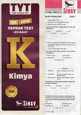Sınav Yayınları - TYT Kimya Yaprak Test