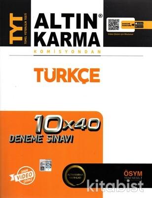 Altın Karma Yayınları - TYT Komisyondan Türkçe 10X40 Deneme Sınavı