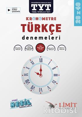 Limit Yayınları - TYT Kronometre Türkçe 20X40 Deneme Sınavı