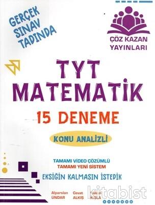 Çöz Kazan Yayınları - TYT Matematik 15'li Deneme Sınavı-Konu Analizli