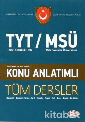 Editör Yayınları - TYT-MSÜ Tüm Dersler Konu Anlatımı