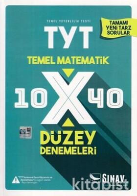 Sınav Yayınları - TYT Temel Matematik 10x40 Düzey Deneme Sınavı