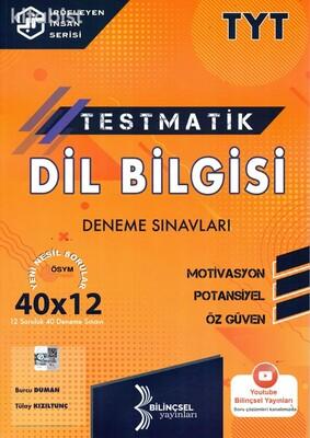 Bilinçsel Yayınları - TYT Testmatik Dil Bilgisi 40x12 Deneme Sınavı