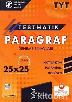 Bilinçsel Yayınları - TYT Testmatik Paragraf 25x25 Deneme Sınavı