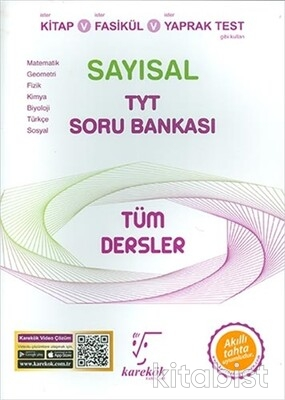 Karekök Yayınları - TYT Tüm Dersler (Sayısal) Soru Bankası