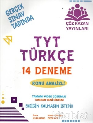 Çöz Kazan Yayınları - TYT Türkçe 14'lü Deneme Sınavı-Konu Analizli