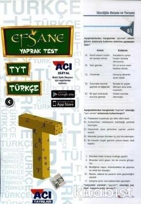 Açı Yayınları - TYT Türkçe Çek Kopar Yaprak Test