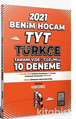 Benim Hocam Yayınları - TYT Türkçe Video Çözümlü 10 lu Deneme Sınavı - 2021