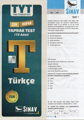 Sınav Yayınları - TYT Türkçe Yaprak Test