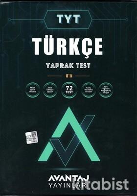 Avantaj Yayınları - TYT Türkçe Konu Kazanım Yaprak Test (8 Öğrencilik)