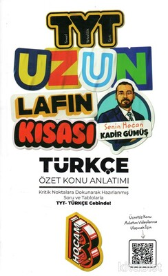 Benim Hocam Yayınları - TYT Uzun Lafın Kısası Türkçe Konu Anlatımı