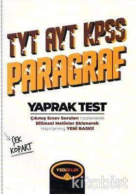 Yedi İklim Yayınları - TYT/AYT/KPSS Paragraf Yaprak Test