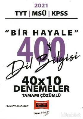 Yargı Yayınları - TYT/MSÜ/KPSS Dil Bilgisi 40X10 Çözümlü Denemeler