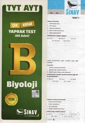 Sınav Yayınları - TYT/AYT Biyoloji Yaprak Test